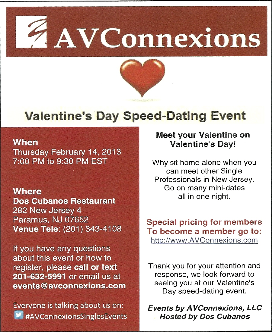 Running speed dating event
