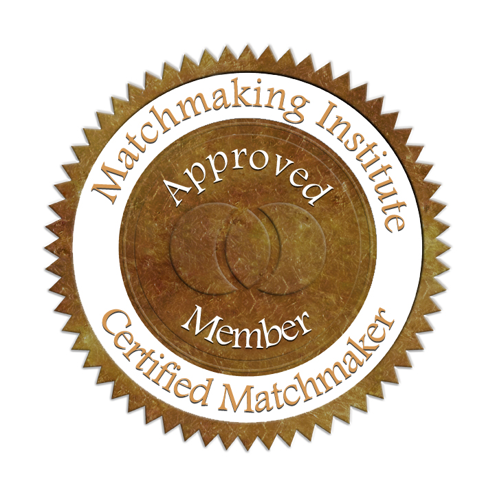 Matchmaking Institute Seal Certifying Matchmaker, Arlene Vasquez and Member in good standing